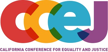This month's speaker sponsored by<br>California Conference for Equality and Justice